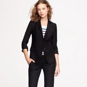 Jcrew 1035 super 120s wool blazer black 6 jacket